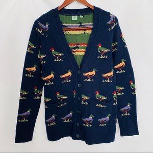 HWR ANTHRO | Mallard Duck Wool Cardigan M